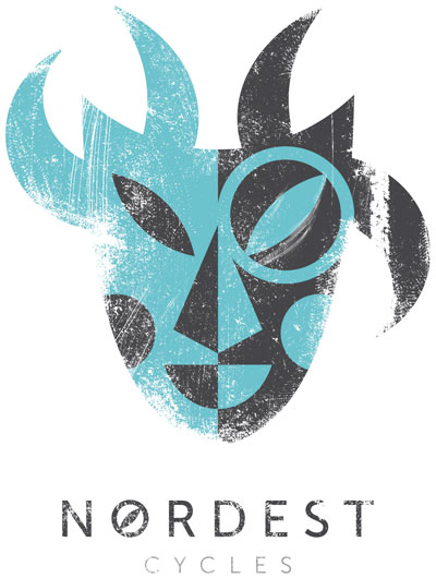 nordest cycles badge and logo
