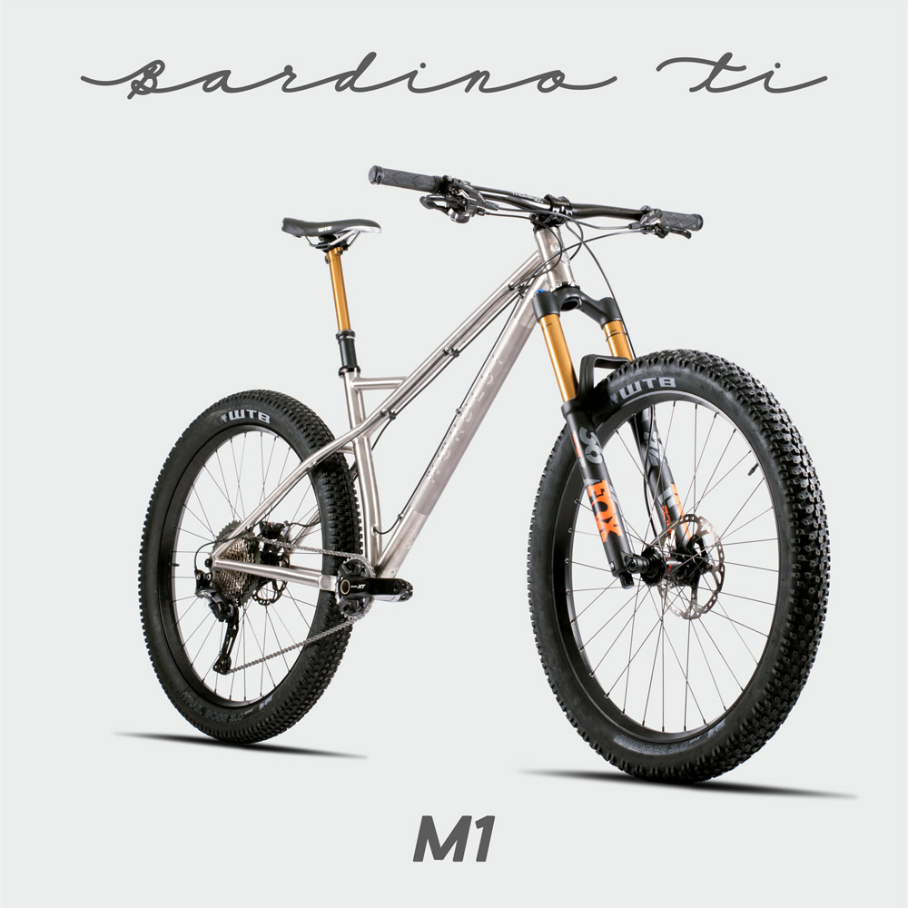 Nordest Bardino Ti is an enduro hardtail titanium MTB