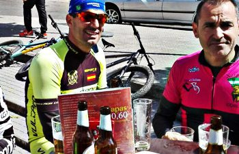 having a beer after a ride
